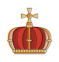 queen crown with cross vector image vector image