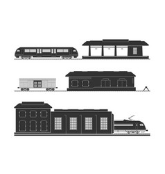 Rail infrastructure vector