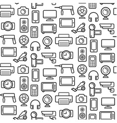 Seamless pattern of electrical engineering vector
