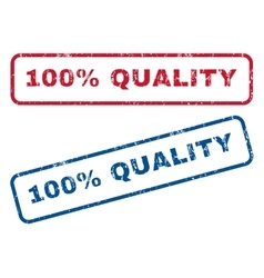 100 percent quality rubber stamps vector
