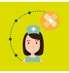 Woman medical staff service vector