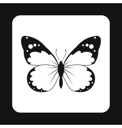 Insect butterfly with big wings icon simple style vector