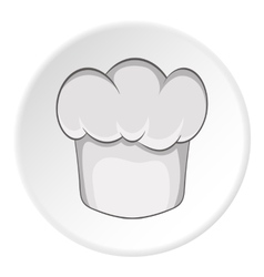Hat chef icon cartoon style vector