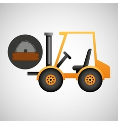 forklift truck construction sawmill icon graphic vector image