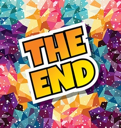 End text abstract colorful triangle geometrical vector