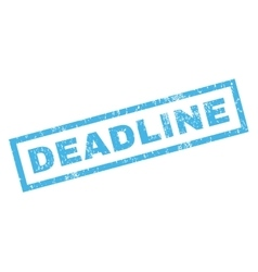Deadline rubber stamp vector