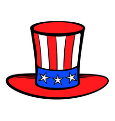 Cylinder in the usa flag colors icon cartoon vector