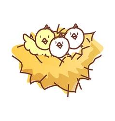 The birds on a nest vector image