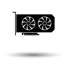 Gpu icon vector