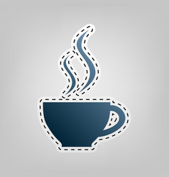cup sign with two small streams of smoke vector image