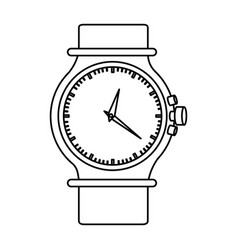Monochrome silhouette of female bracelet clock vector