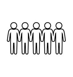 Teamwork pictogram symbol vector