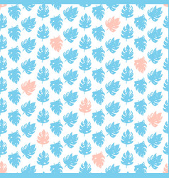 Tropical natural seamless pattern vector