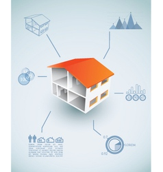 Housing infographic vector image