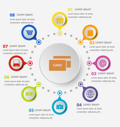 Infographic template with ecommerce icons vector