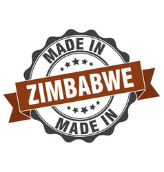 Made in zimbabwe round seal vector