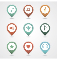 Mapping pins icon vector
