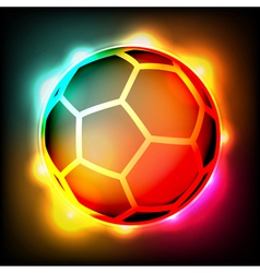 Glowing soccer ball vector