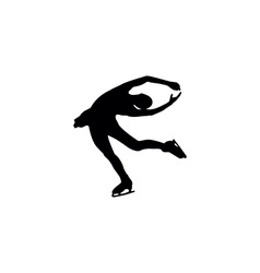 Figure skating individual silhouettes vector