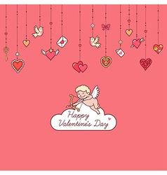 valentine card cupid vector image