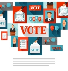 Vote political elections background vector