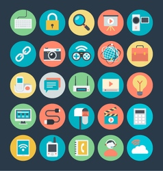 Communication colored icons 3 vector