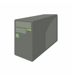 Black computer system unit icon cartoon style vector