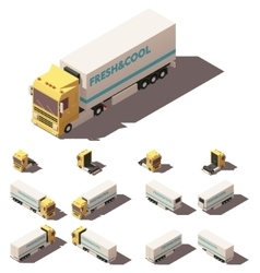 Isometric truck with insulated or vector