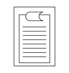 Clipboard with sheet of paper icon outline style vector