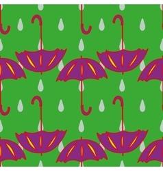 Umbrella and drop geometric seamless pattern vector