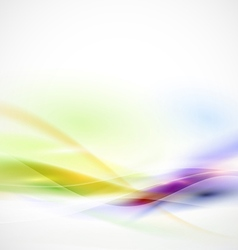 Abstract smooth colorful flow on white background vector