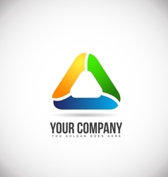 Abstract triangle logo icon design vector