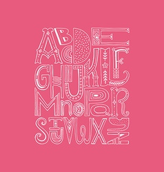 Alphabet Poster vector image vector image