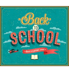 Back to school typographic design vector