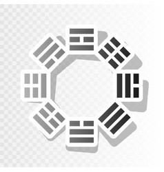 Bagua sign new year blackish icon on vector