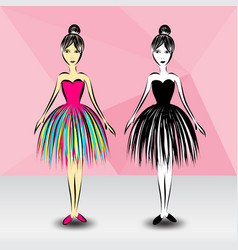 ballerina cute fashion fashion design vector image