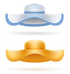 beach hat for women stock vector image vector image