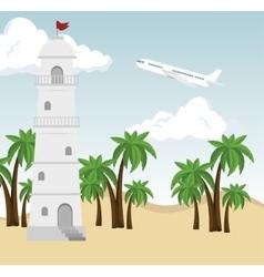 beautiful summer landscape icon vector image vector image