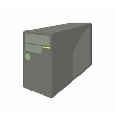Black computer system unit icon cartoon style vector
