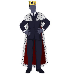 Business man king vector