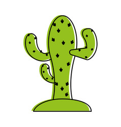 cactus on soil icon image vector image vector image