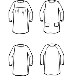 Childs dress vector