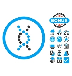 DNA Spiral Flat Icon with Bonus vector image