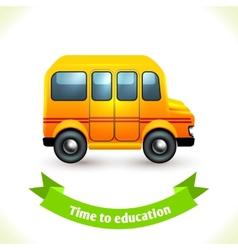 Education icon school bus vector image