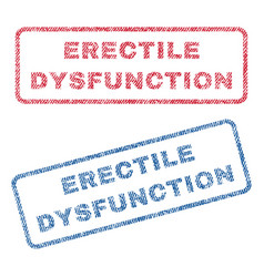 Erectile dysfunction textile stamps vector