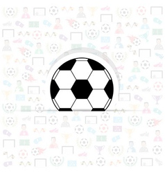 football icons of soccer background eps10 vector image