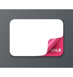 Gift card template with curl corner vector