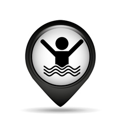 Guy swimming icon vector