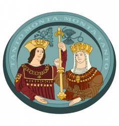 Isabella I and Ferdinand ii vector image vector image