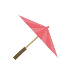Isolated fashion umbrella vector image